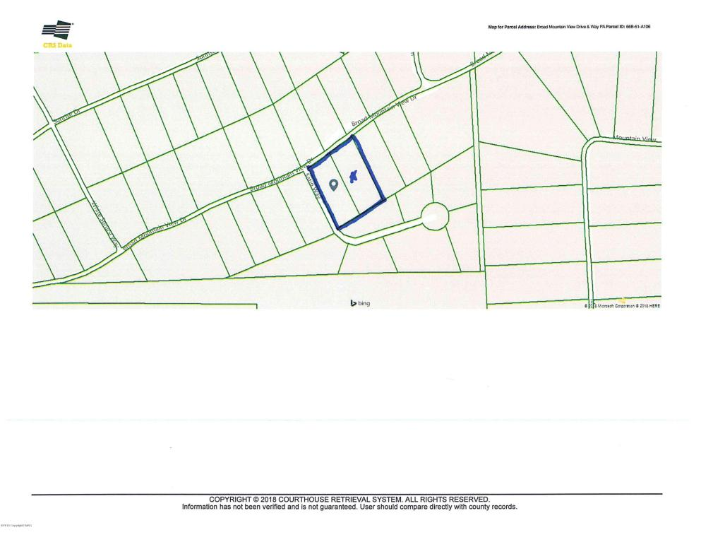 Broad Mt View Drive Lot 105 & 106, Jim Thorpe, PA 18229