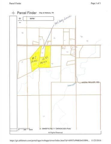 Tbd 10.7 Acres Key Lane, Abilene, TX 79602