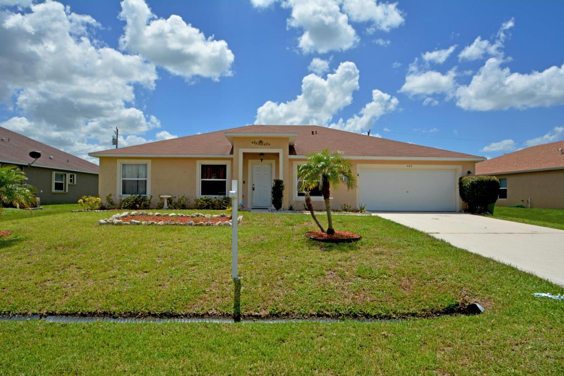 542 Sw Millard Drive, Port Saint Lucie, FL 34953