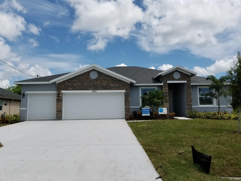 563 Sw Jeanne Avenue, Port Saint Lucie, FL 34953