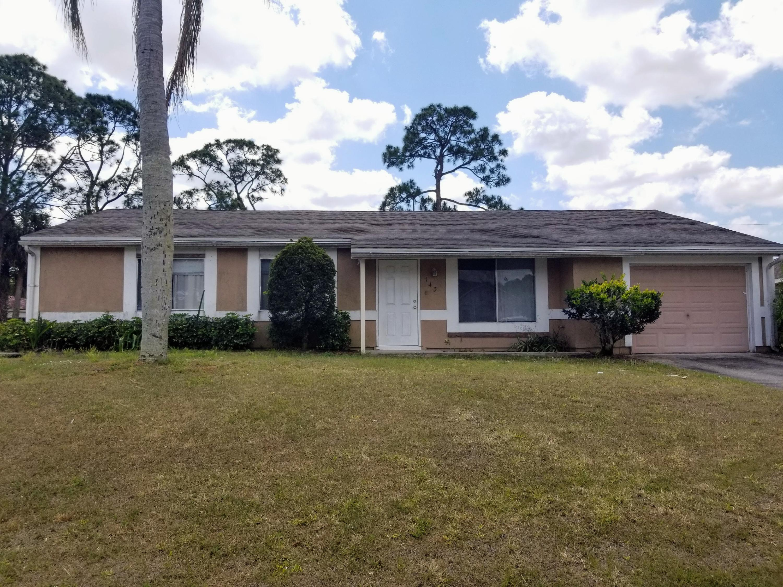 143 Sw Tulip Boulevard, Port Saint Lucie, FL 34953